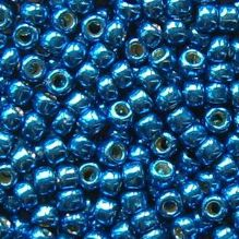 Toho 8/0 Seed Beads Permanent Finish  Galvanised Ocean Blue PF585 - 10 grams